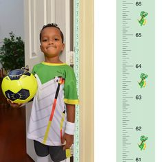 Patent Pending Mom Approved Dinosaur PeekaBoo Growth Charts Track & Measure your Kid's Height. Fits in Door Jamb, Removable & Reusable, Self-Adhesive [72 x 1.25 Inches]