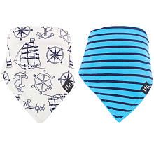 Hudson Baby is a premium baby brand focused on offering fashion forward clothing, bath, bedding and feeding solutions. Hudson Baby Bandana Bib 2 Pack are an adorable way to help keep your baby's clothes clean during meals. Made of 100% cotton, these bibs are backed with knit terry to remain gentle and absorbent. These bibs have a snap closures so bibs the stay on.<br><br>The Hudson Baby Boys 2 Pack Nautical Bandana Bib Features:<br><ul><li>100% cotton<&#x2...
