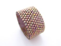 Copper Ring Band, Beaded Ring for Men, Unisex Ring Band, Couple Ring Bands, Classic Style, Handmade by JeannieRichard. $25.00, via Etsy.