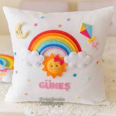 names vowel - Baby Namen Cute Cushions, Cute Pillows, Baby Pillows, Kids Pillows, Baby Crafts, Felt Crafts, Diy And Crafts, Diy For Kids, Crafts For Kids