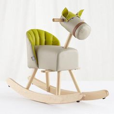 The Land of Nod: Kids Ride-On: Sprout Rocking Horse in New Toys and Gifts on Wanelo