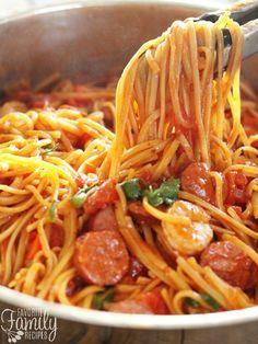 One Pot Jambalaya Pasta FoodBlogs.com