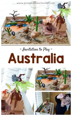 Small world play of Australian Outback
