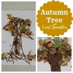 Autumn Tree with Leaf Sprinkles. I'm thinking an afternoon project for us, today!