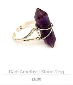 de5b2d5ef2 Amethyst stone ring now available in the website WE SHIP WORLDWIDE www.crmc- clothing