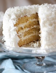 Moist Fluffy Coconut Cake -@Merry Thomas  if I make one you'll have to help me eat it!!