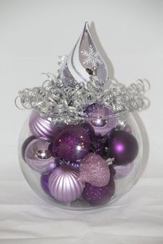 Hey, I found this really awesome Etsy listing at https://www.etsy.com/listing/208398867/christmas-centerpiece-purple-lavender