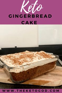 Low Carb Sweets, Low Carb Desserts, Sweets Recipes, Cake Recipes, Keto Recipes, Keto Holiday, Keto Mug Cake, Gingerbread Cake, Keto Cookies