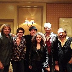 The Blue Sky Riders Band! Scott Bernard, George Hawkins Jr, Tom Brechtlein, Georgia Middleman, Kenny Loggins, Gary Burr