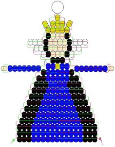 Snow White Queen Pony Bead Pattern