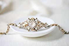 #sponsored Handcrafted Bridal jewelry and Hair accessories. Custom orders welcome! Treasures by Agnes, Inc. #wedding #weddingjewelry #bride #bridetobe #engaged #bracelet