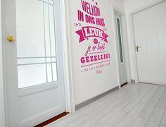 Interieursticker 'Welkom in ons huis'