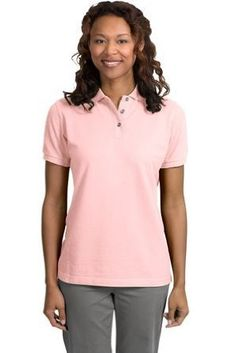 Port Authority Ladies Pique Sport Shirt (L420) Available in 24 Colors Small Light Pink Port Authority. $21.33