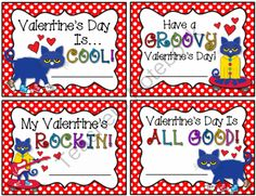pete the cat valentines day cards