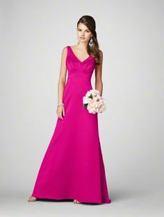 Long fuschia bridesmaids dress - Bridesmaid Dresses - Pinterest ...