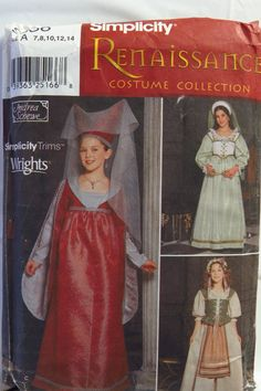 Simplicity 9836 Girl's Costume
