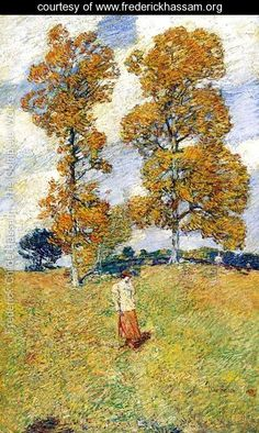 Two Hickory Trees by Childe Hassam