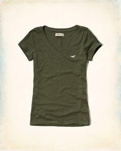 T-shirt indispensable à col en V et manches courtes