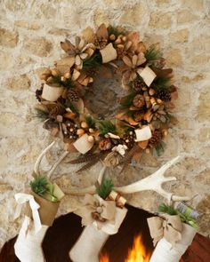"""NEW Neiman Marcus 28"""" Natural Wreath  www.TheConsignmentBag.com We ship Worldwide and New Items arrive daily! Follow us and have items delivered straight to your front door! #neimanmarcus #holiday #decorating #Christmas #interiordesign"""