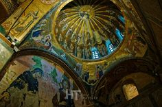 Beautiful mural of Chora church in Istanbul, Turkey.
