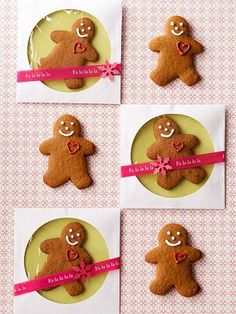 Love this idea. Gingerbread Cookies Packaging- how sweet is this, a DVD/CD sleeve...then decorate it.