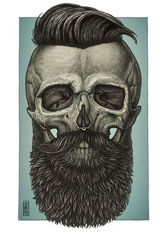 Bearded by Vadim Zhulanov from Moscow, Russia. More art inspirations and skull designs at skullspiration.com