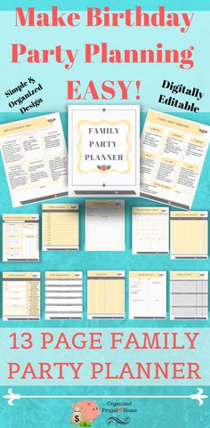 Party Planning Printable, Party Printables, Retirement Parties, Birthday Parties, Party Guests, Party Party, Welcome Home Parties, Party Checklist, Home Planner
