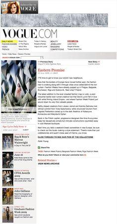 Ania Kuczynska featuring on Vogue.com