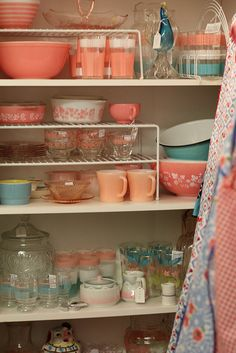 Vintage Kitchen...group hug * wonder how long it would take me to box those up & put them in my kitchen