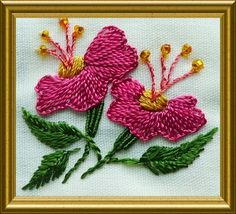 RosalieWakefield-Millefiori: Back to The Olden Days - Brazilian Embroidery Flowers, Part 3 of 3