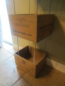 DIY Wine Crate Shelves - Stephen would love these...
