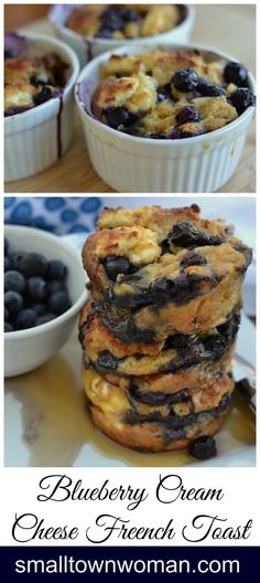Do you love blueberries, cream cheese and French toast? This scrumptious recipe bring all those flavors together in perfect harmony! More from my site Raspberry Baked French Toast Ramikin Recipes, Brunch Recipes, Breakfast Recipes, Dessert Recipes, Cooking Recipes, Brunch Ideas, Breakfast Ideas, Recipies, Waffle Recipes