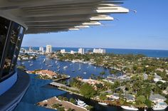 Nice shot from Hyatt Regency Pier Sixty-Six, overlooking the Fort Lauderdale waterways.