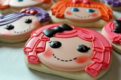 How to make Lalaloopsy cookies using a pumpkin cookie cutter.