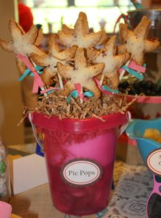 Starfish shaped Blackberry Pie Pops