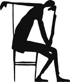 Pensador [Thinker], Drawing by Franz Kafka. [drawing acc. 'Letter to Felice Bauer, 10/16 January 1913]