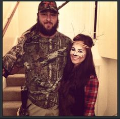 Hunter and deer couple costum