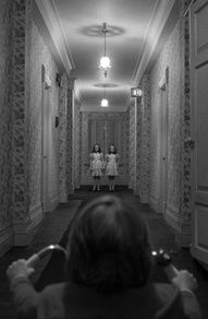 The Shining.  beautiful use of background and foreground.  brings the feeling…