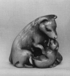 Netsuke of Dogs