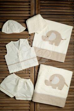 Λαδόπανα βάπτισης για αγόρι με ελεφαντάκι
