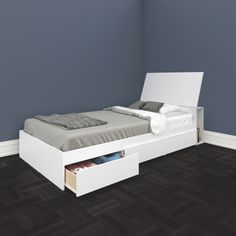 Traffic Contemporary Storage Bed - Single - White : Beds & Bed Frames - Best Buy Canada