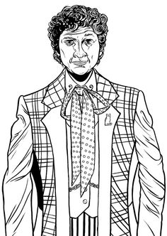 doctor who coloring pages colin baker actually showed up in an earlier peter davison episode
