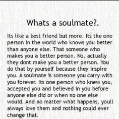 soulmate - Best quotes about soulmate. Saying Images shares with you the most inspirational soulmate quotes Great Quotes, Quotes To Live By, Me Quotes, Qoutes, Inspirational Quotes, Couple Quotes, Young Love Quotes, Couple Texts, Sarcastic Quotes