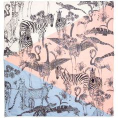 Madewell MADEWELL Safari Sketch Scarf ($48) ❤ liked on Polyvore