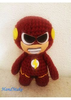 Flash - superhero DC Comics, the fastest man in the world! For all fans of the Speedster and Barry Allen! Toy handmade. The unique design based