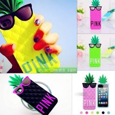 New Victoria's Secret Pineapple Silicone 3D case cover for iPhone 5 5S 4S 5C #Unbranded #NovelGlowCute