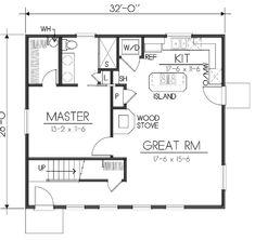 Modern Style House Plan - 2 Beds 2 Baths 1146 Sq/Ft Plan #100-464 Floor Plan - Main Floor Plan - Houseplans.com