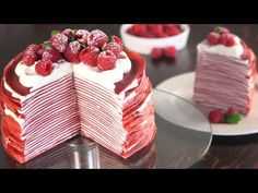 This stunning Red Velvet Crepe Cake is made with 24 crepes layers filled with a fluffy Cream Cheese Frosting. Cotton Cheesecake, Red Velvet Cheesecake, Fluffy Cream Cheese Frosting, Cream Cheese Filling, Red Velvet Crepe Recipe, Stand Mixer Recipes, Bad Cakes, Crepe Batter, How To Make Bread