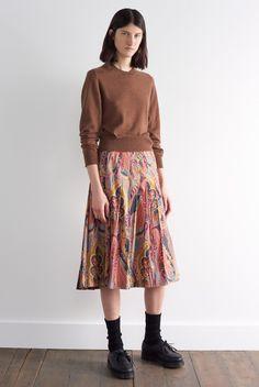 Margaret Howell - Lookbook Pleated Skirt, Midi Skirt, Margaret Howell, Skirts For Sale, Matching Shirts, Paisley, Aw 2018, Women Wear, Dressing