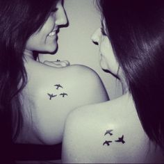 Bestfriend tattoos. Peace, serenity, tranquility. Bird tattoo.